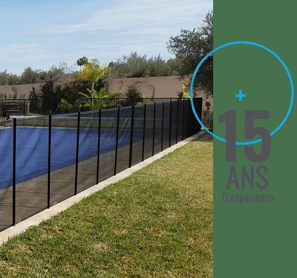 Barrière de sécurité et alarme piscine